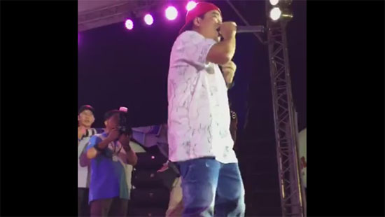 Sexy girl group leader reacted on Gloc 9 performance in Abby Binay's rally