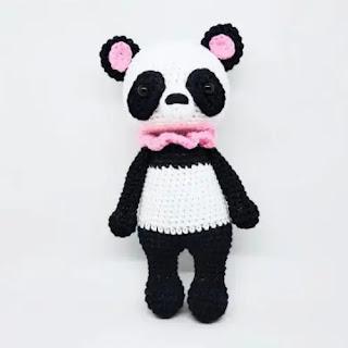 Amigurumi Oso Panda a Crochet