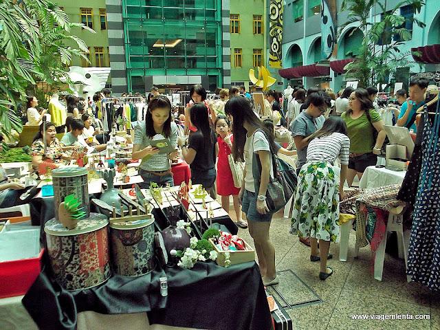 Cultura chinesa nos mercados em locais fechados