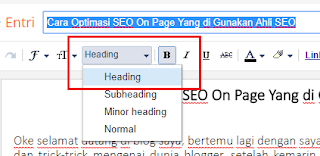 Belajar SEO Optimasi SEO On Page