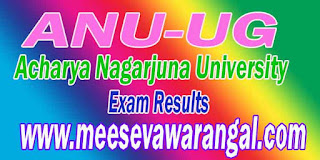 Acharya Nagarjuna University ANU-UG Final Year 2016 Exam Results