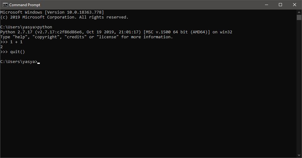 Menjalankan Python melalui Command Line