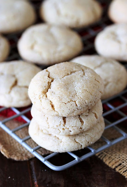 Stack of Chai Sugar Cookies on Cooling Rack Image