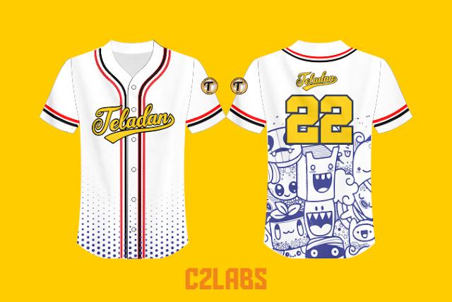 Desain Kaos Jersey Basebal Custom Full Printing Teladan 2