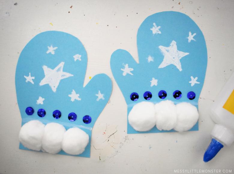 mitten craft for preschoolers