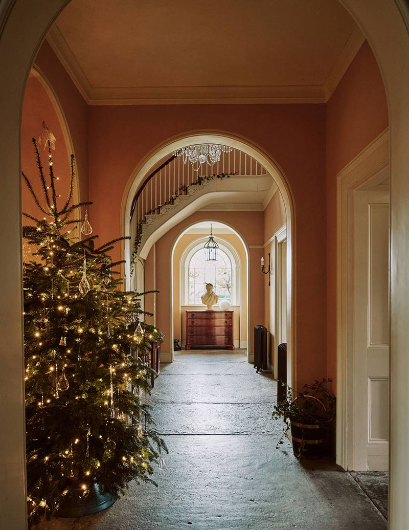 A former Victorian rectory filled with delicate festive decorations