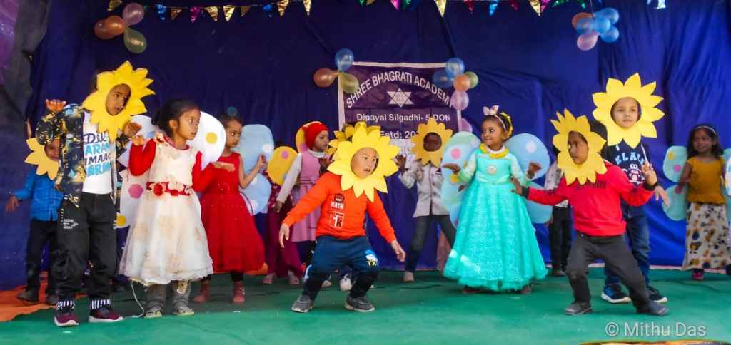 Silgadhi children dancing