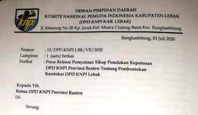 DPD KNPI Lebak Tolak Adanya Kareteker DPD KNPI Ipan Himawan