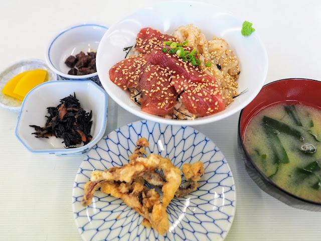 城ケ島 しぶき亭 マグロとイカのMIX丼