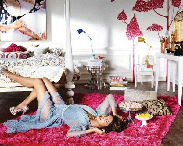 Deepika in her bedroom.