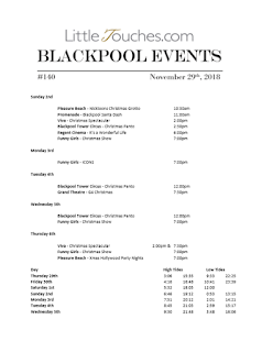 Blackpool Shows and Events November 30 to December 6 - PDF What's On listings print-off
