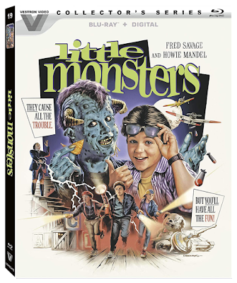 Cover art for Vestro Video Collector's Series' Blu-ray release of LITTLE MONSTERS!