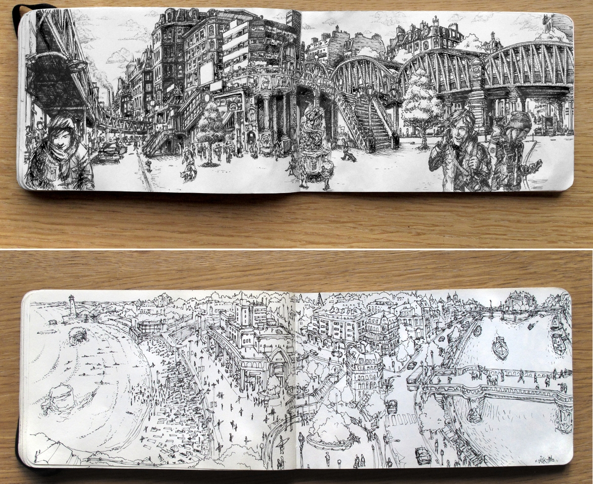 10-Moleskine-and-Doodles-DeckTwo-www-Freehand-Massive-Drawings-using-a-Marker-Pen-designstack-co