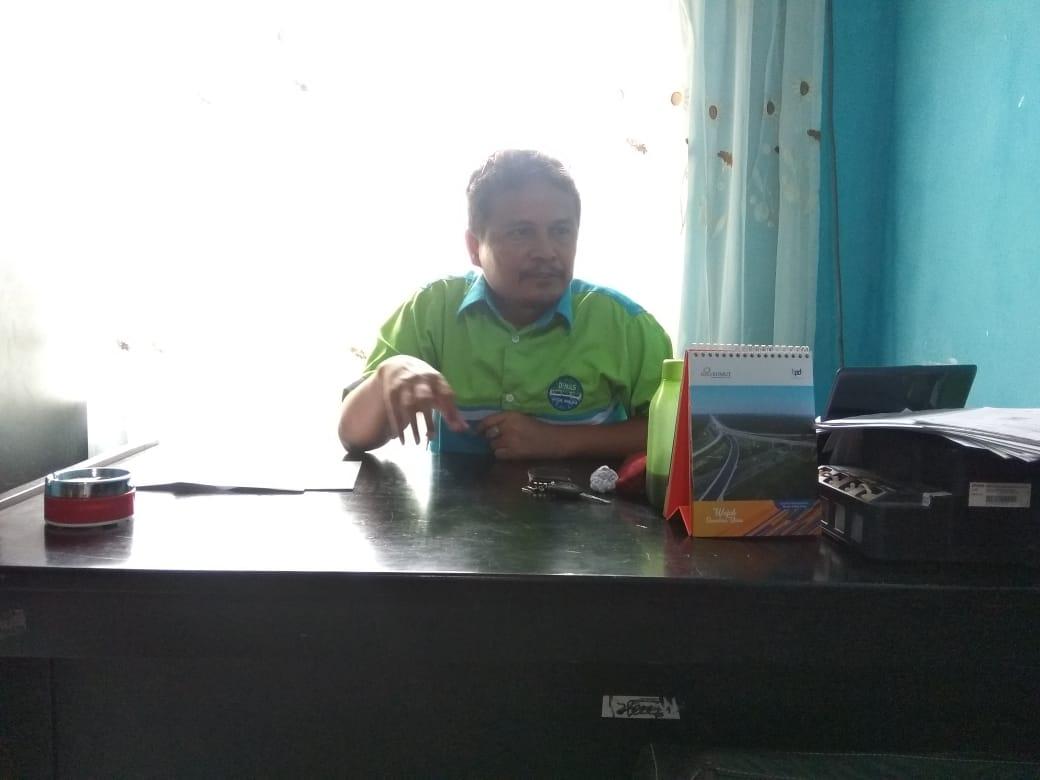 kepala UPTD Pengolahan sampah dan TPA Binjai Halomoan Simangunsong.