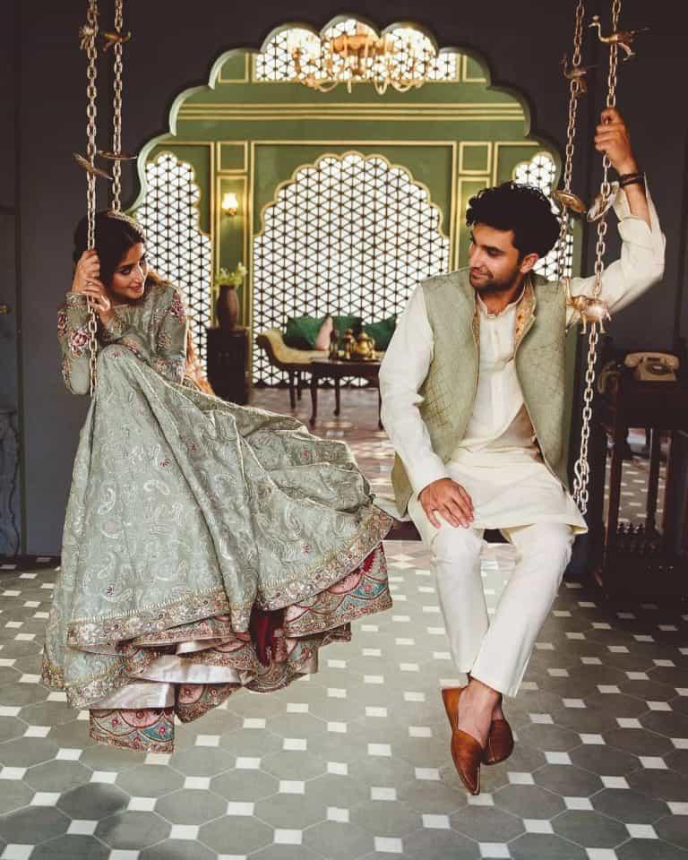 Sajal Aly And Ahad Raza Mir photo shoot