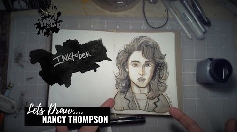 We Drew Nancy Thompson from Nightmare on Elm Street  - Inktober 2018