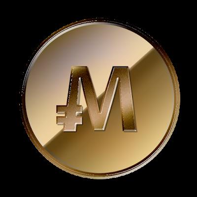 仮想通貨MonaCoin裏面のフリー素材(銅貨ver)