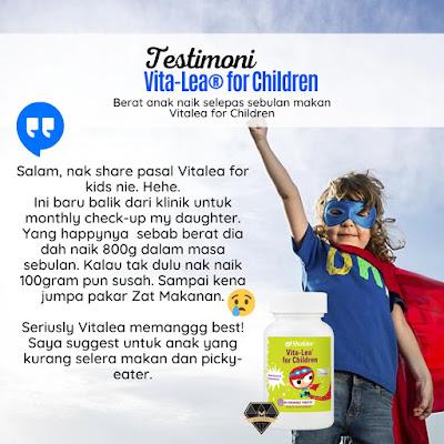 Testimoni Vitalea For Children Untuk Anak Susah Makan