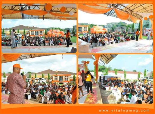 Photos: Vitafoam Orange Moment Loud in Enugu City!