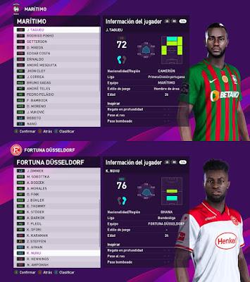 PES 2020 Faces Joel Tagueu & Kasim Nuhu