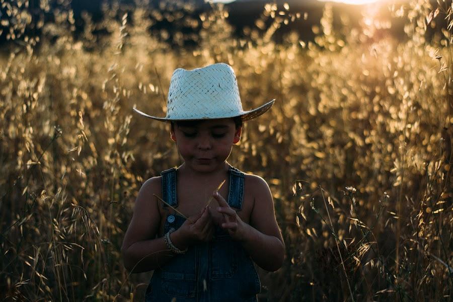 Sesión de fotos con niños en el campo