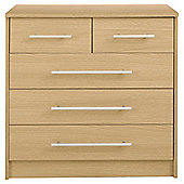 HALF PRICE FUNITURE : Kendal 5 Drawer Chest, Oak Effect £50.00 @ Tesco