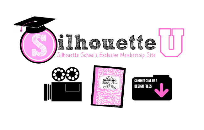 silhouette u, silhouette school membership, silhouette video tutoroals,best silhouette cameo classes, online silhouette cameo classes, silhouette tracing help, silhouette commercial use designs, silhouette cameo help, silhouette cameo beginner help