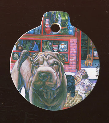Shar Pei ornament