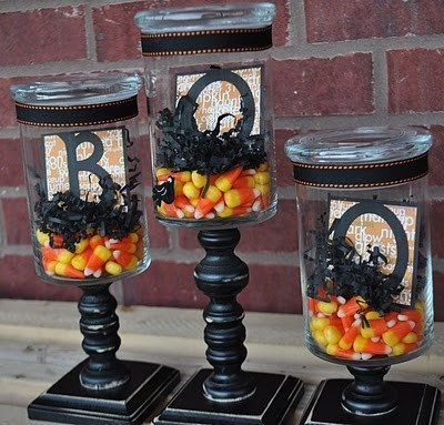 9 Apothecary Jar Fillers Fall Halloween Ideas Setting For Four