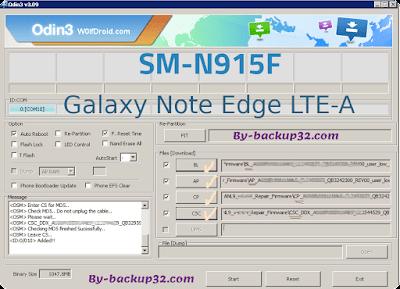 سوفت وير هاتف Galaxy Note Edge LTE-A موديل SM-N915F روم الاصلاح 4 ملفات تحميل مباشر