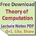 Lecture Notes Theory of Computation PDF