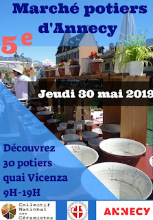 affiche marché de potiers à Annecy avec les bijoux Pili-Pok Lyon