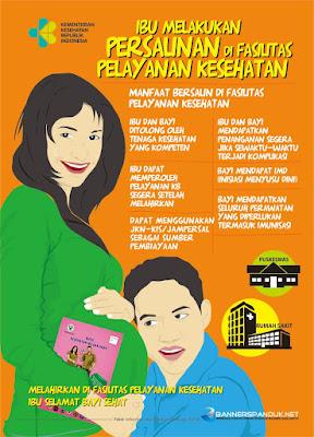 Desain Poster Kesehatan tentang persalinan di fasilitas kesehatan