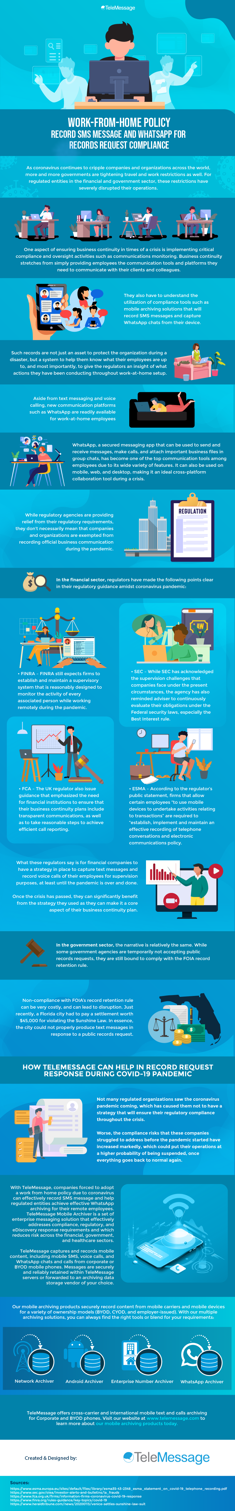 Work-from-Home Policy – Record SMS Message and Record Voice Calls for Records Request Compliance #Infographic