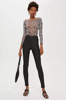 Black Coated Joni Jeans