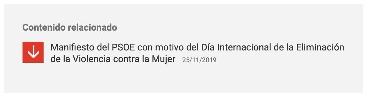 Manifiesto 25N PSOE 2019