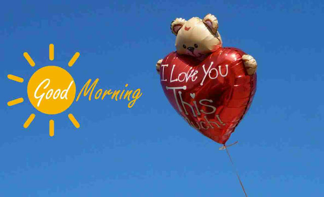good morning image of i love you heart bloon