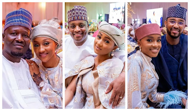 Check out the Lovely Photos of President Muhammadu buhari daughters with their Husbands