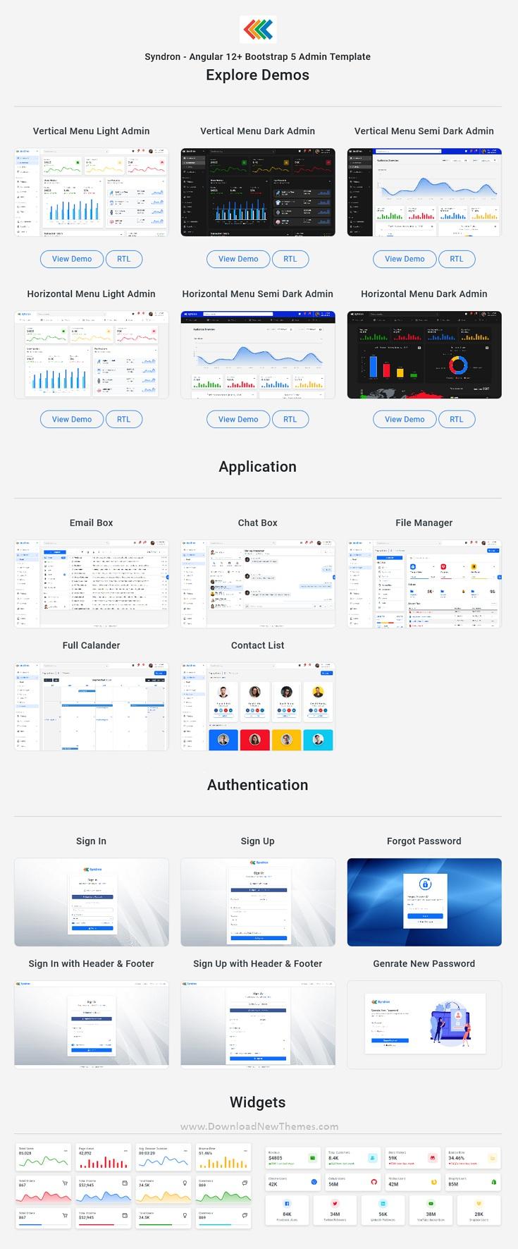 Angular 12+ Bootstrap 5 Admin Template
