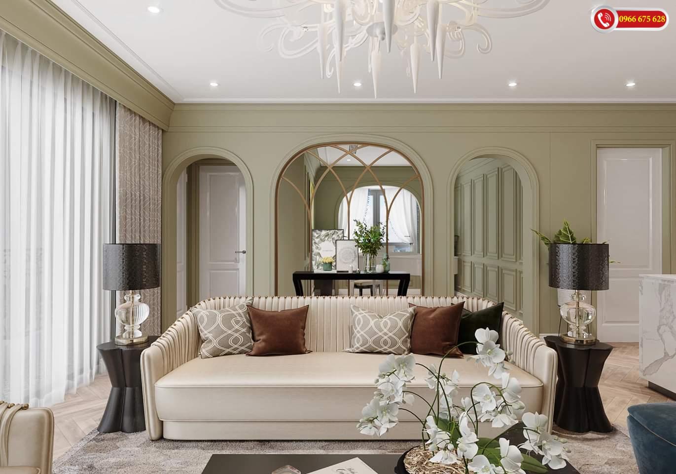 Sofa phòng khách chung cư Amber Riverside