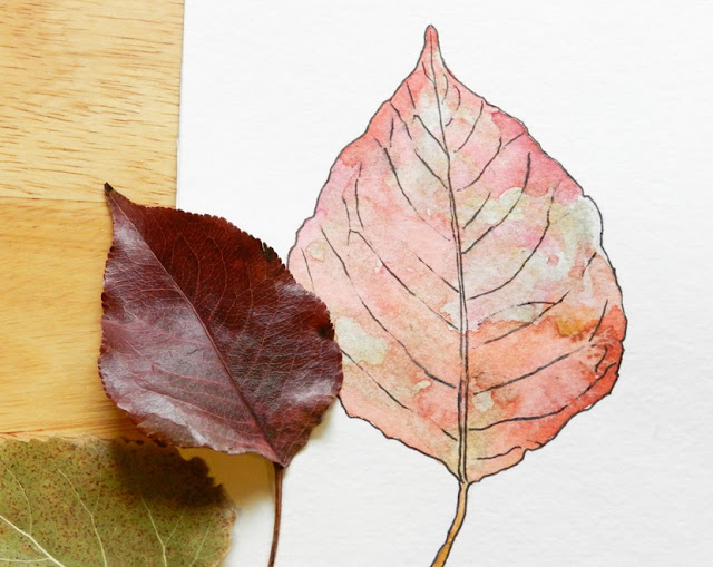 watercolor leaf tutorial