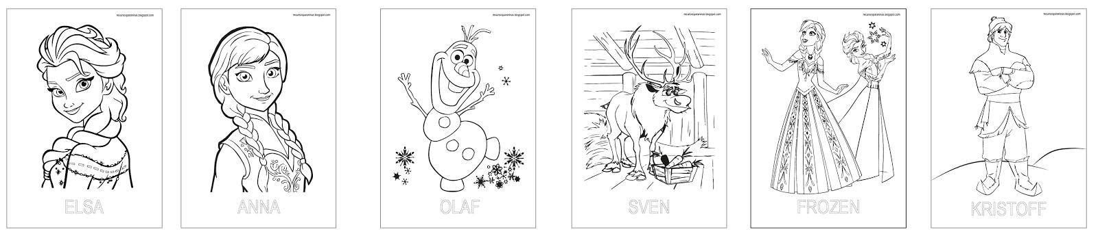 Libro fichas FROZEN para colorear PDF | Recursos para Niñ@s