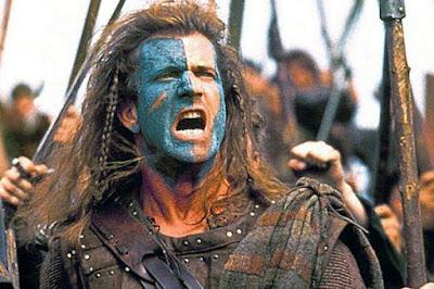 Mel Gibson in Braveheart, 1995