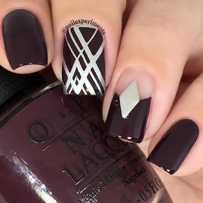 easy minimalistic nail art'