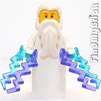 Lego figure Zeus Greek