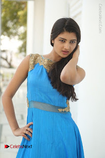 Telugu Actress Akshita (Pallavi Naidu) Latest Stills in Blue Long Dress at Inkenti Nuvve Cheppu Movie Promotions  0009.jpg
