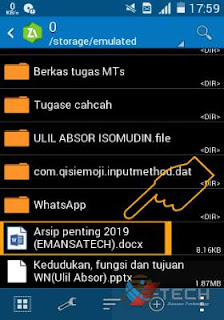 Tutorial 1 Cara Memberi Password Pada File Folder di Android Praktis