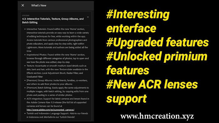 Download Adobe photoshop lightroom cc 4.3 letest mod apk full unlocked version