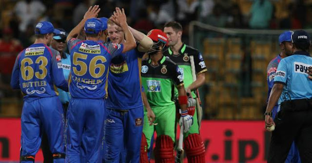 Rajasthan Royals dominate the run-fest at Royal Challengers Bangalore' home