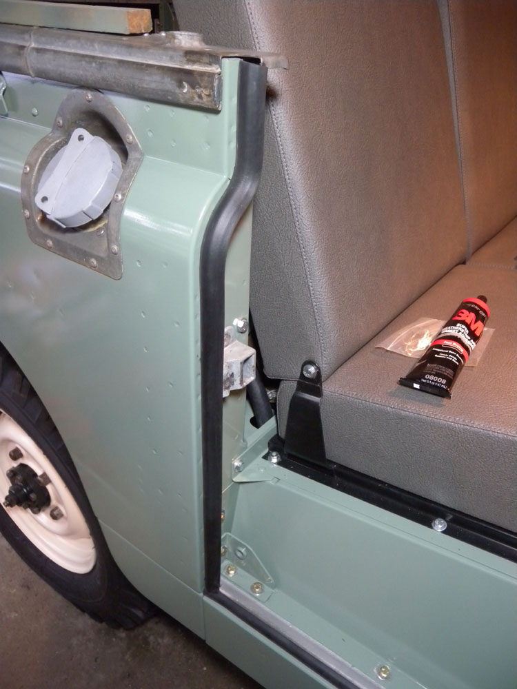 1960 Land Rover Restoration Doors Installed Sill Panels